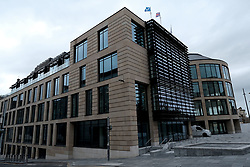 Scottish Secretary of State David Mundell received the keys to the new UK Government building in Edinburgh.<br /> <br /> The new hub is due to open in early 2020 and bring together nearly 3,000 UK Government civil servants.<br /> <br /> Pictured: General views of the building<br /> <br /> Alex Todd | Edinburgh Elite media