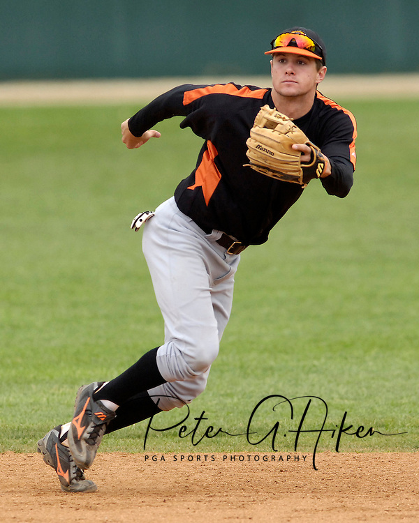 Oklahoma State shortstop Jordy Mercer during game action against Kansas State.  Oklahoma State defeated K-State 9-4 in 10 innings at Tointon Stadium in Manhattan, Kansas, April 30, 2006.