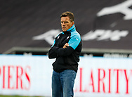 Head Coach Allen Clarke of Ospreys during the pre match warm up<br /> <br /> Photographer Simon King/Replay Images<br /> <br /> Guinness PRO14 Round 2 - Ospreys v Cheetahs - Saturday 8th September 2018 - Liberty Stadium - Swansea<br /> <br /> World Copyright © Replay Images . All rights reserved. info@replayimages.co.uk - http://replayimages.co.uk