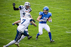 Ziga Zibelnik of Silverhawks during american football match between Ljubljana Silverhawks and Traun Steelsharks on April 7, 2018 in Nogometni stadion, Ivancna Gorica, Slovenia. Photo by Matic Klansek Velej / Sportida