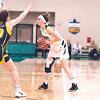 2nd year guard, Faith Reid (13) of the Regina Cougars during the Women's Basketball Home Game on Fri Nov 02 at Centre for Kinesiology,Health and Sport. Credit: Arthur Ward/Arthur Images