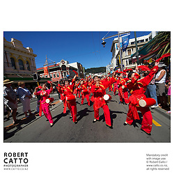 Wellington's Chinese community celebrate their New Year with a parade in Courtenay Place.