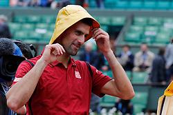 Serbia's Novak Djokovic playing the 1/8 of final round of the 2016 BNP Paribas tennis French Open at Roland-Garros Stadium, Paris, France on June1st, 2016. Photo by Henri Szwarc/ABACAPRESS.COM