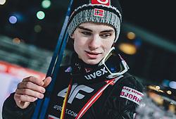 06.01.2020, Paul Außerleitner Schanze, Bischofshofen, AUT, FIS Weltcup Skisprung, Vierschanzentournee, Bischofshofen, Finale, Podium Gesamtsieg, im Bild 2. Platz Marius Lindvik (NOR) // 2nd placed Marius Lindvik of Norway during Podium for the overall victory of the Four Hills Tournament of FIS Ski Jumping World Cup at the Paul Außerleitner Schanze in Bischofshofen, Austria on 2020/01/06. EXPA Pictures © 2020, PhotoCredit: EXPA/ JFK