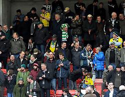 Plymouth Argyle's Fans- Photo mandatory by-line: Nizaam Jones - Mobile: 07966 386802 - 28/03/2015 - SPORT - Football - Cheltenham - Whaddon Road - Cheltenham Town v Plymouth Argyle - Sky Bet League Two