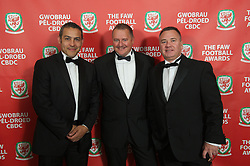 CARDIFF, WALES - Monday, October 8, 2012: Guests arrive for the FAW Player of the Year Awards Dinner at the National Museum Cardiff. xxxx, xxxx, Cliff Evans (Pic by David Rawcliffe/Propaganda)