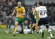 Preston - Saturday February 14th, 2009: Eddie Nolan of Preston North End and Gary Doherty of Norwich City during the Coca Cola Championship match at Deepdale, Preston. (Pic by Michael Sedgwick/Focus Images)