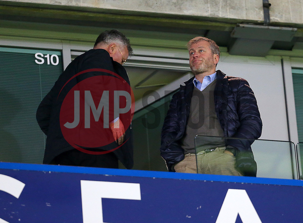 Chelsea owner, Roman Abramovich ( R ) and Newly appointed Chelsea Manager, Guus Hiddink - Mandatory byline: Paul Terry/JMP - 07966 386802 - 19/12/2015 - FOOTBALL - Stamford Bridge - London, England - Chelsea v Sunderland - Barclays Premier League