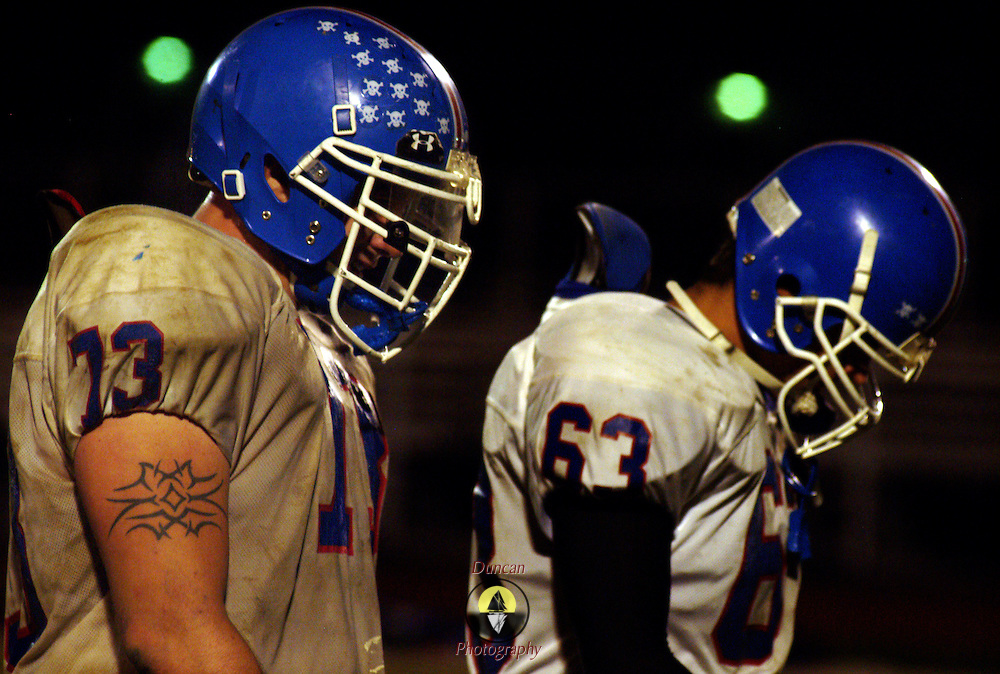 October 27, 2007 -- BATH, Maine.  Morse beat Oak Hill on Friday night at home 35-6.  Photo by Roger S. Duncan.