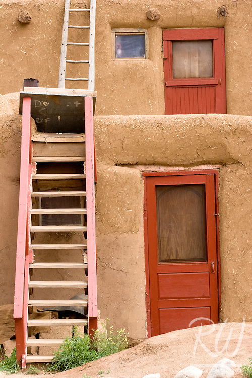 Red Doors and Ladders, Taos Pueblo, New Mexico