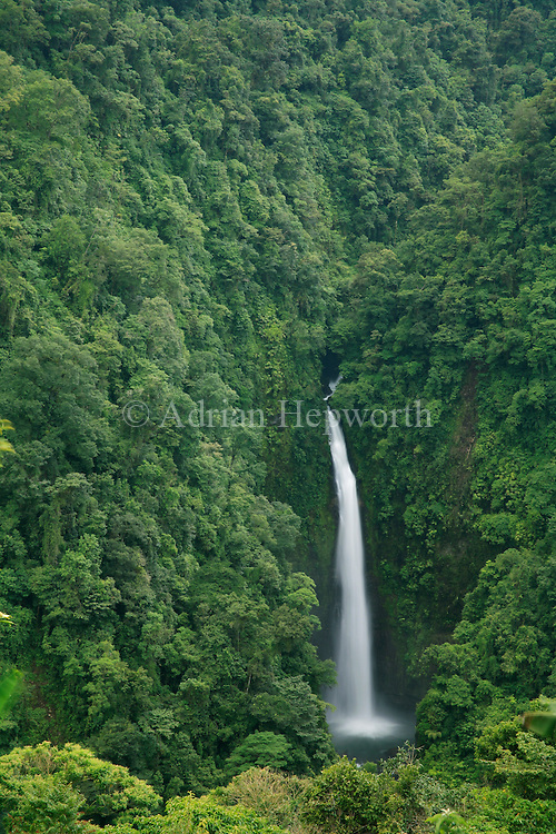 San Fernandez Waterfall, Braulio Carrillo National Park, Costa Rica.<br />