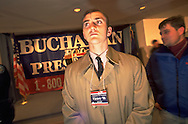 Pat Buchanan staffer on the presidential campaign trail.