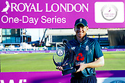 England ODI Captain & Batsman Eoin Morgan  series winner during the 3rd Royal London ODI match between England and India at Headingley Stadium, Headingley, United Kingdom on 17 July 2018. Picture by Simon Davies.