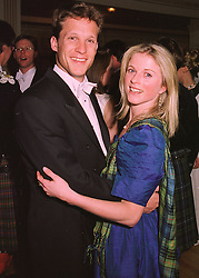 MR RORY FOWLER and LADY LOUISA STUART, at a ball in London on 30th April 1998.MHI 50