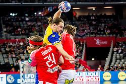Mattias Zachrisson (SWE) during handball match between National teams of Denmark and Sweden in Half Final match of Men's EHF EURO 2018, on January 26, 2018 in Arena Zagreb, Zagreb, Croatia. Photo by Ziga Zupan / Sportida
