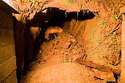 Incomplete tunnel German Underground Military hospital, Guernsey, Channel Islands, UK