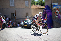 Rozanne Slik (NED) of Team Sunweb rides near the top of the final climb of Stage 5 of the Giro Rosa - a 12.7 km individual time trial, starting and finishing in Sant'Elpido A Mare on July 4, 2017, in Fermo, Italy. (Photo by Balint Hamvas/Velofocus.com)