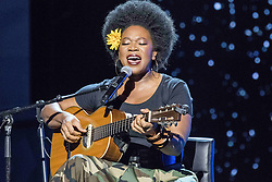 August 6, 2017 - New Jersey, U.S - INDIA ARIE, performing at the 2017 Black Girls Rock awards show. Black Girls Rock 2017 was held at the New Jersey Performing Arts Center in Newark New Jersey. (Credit Image: © Ricky Fitchett via ZUMA Wire)