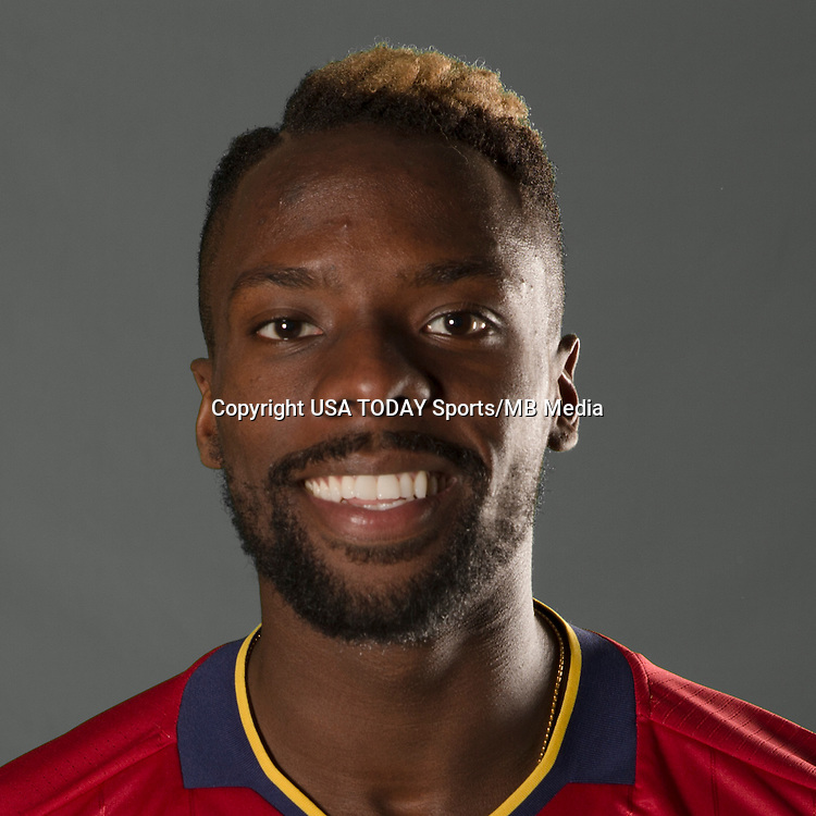 Feb 25, 2016; USA; Real Salt Lake player Boyd Okwuonu poses for a photo. Mandatory Credit: USA TODAY Sports