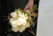 Marriage - bride holds the bridal bouquet. Hands Only