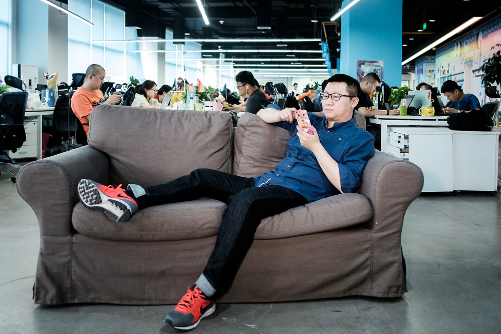 Beijing. Geng Le founder of Blued, the world's top gay dating app. Now Blued claims 27 million users.