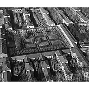 Collegno 2008 veduta aere dei padiglioni dell'ex ospedale psichiatrico