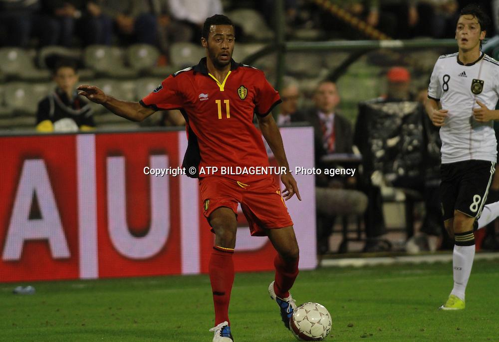 Moussa DEMBELE <br /> Fussball  2010 - Football UEFA Euro Qualification, BELGIEN - DEUTSCHLAND - BELGIUM - GERMANY - Belgique - Allemagne  -03.09.2010. - fee liable image, Foto: &copy; ATP  Arthur THILL