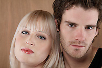 Young couple portrait close-up
