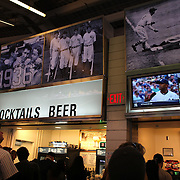 Fast food on sale in Yankee Stadium during the New York Yankees opening day of the Major League Baseball 2013 season during the New York Yankees V Boston Red Sox American League East baseball game at Yankee Stadium, The Bronx, New York. USA, 1st April 2013. Photo Tim Clayton