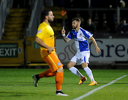 Matty Taylor of Bristol Rovers celebrates the goal - Mandatory byline: Neil Brookman/JMP - 07966 386802 - 06/10/2015 - FOOTBALL - Memorial Stadium - Bristol, England - Bristol Rovers v Wycombe Wanderers - JPT Trophy