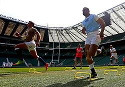 Joe Cokanasiga of England takes part in training at Twickenham ahead of the upcoming tour of Argentina - Mandatory by-line: Robbie Stephenson/JMP - 02/06/2017 - RUGBY - Twickenham - London, England - England Rugby Training