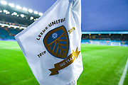 A general view of Leeds United corner flag during the EFL Sky Bet Championship match between Leeds United and West Bromwich Albion at Elland Road, Leeds, England on 1 October 2019.