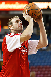 January 19, 2011; Sacramento, CA, USA;  Portland Trail Blazers power forward Sean Marks (4) warms up before the game against the Sacramento Kings at the ARCO Arena. Portland defeated Sacramento 94-90 in overtime.