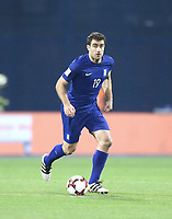 ZAGREB, CROATIA - NOVEMBER 09:  Sokratis Papastathopoulos of Greece controls the ball during the FIFA 2018 World Cup Qualifier play-off first leg match between Croatia and Greece at Maksimir Stadium on November 9, 2017 in Zagreb, Croatia. (Sanjin Strukic/PIXSELL)