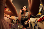 Backstage at a Burlesque performance, The Oxford Arts Factory in Sydney, 2007.