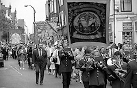 Silverwood and Goldthorpe Branch banners. 1993 Yorkshire Miner's Gala. Wakefield.