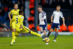 Craig Gardner of West Brom is challenged by Danny Rose of Tottenham Hotspur - Photo mandatory by-line: Rogan Thomson/JMP - 07966 386802 - 31/01/2015 - SPORT - FOOTBALL - West Bromwich, England - The Hawthorns - West Bromwich Albion v Tottenham Hotspur - Barclays Premier League.