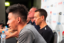 January 12, 2019 - Caleb Ewan at TDU Official Race Press Conference, with Mike Turtur, TDU Race Director, Daryl Impey (Mitchelton-SCOTT) 2018 TDU Champion, Peter Sagan (BORA-hansgrohe), Richie Porte (Trek-Segafredo) & Caleb Ewan (Lotto-Soudal), Tour Down Under, Australia on the 12 of January 2019  (Credit Image: © Gary Francis/ZUMA Wire)