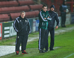 WREXHAM, WALES - Tuesday, November 17, 2015: Wales' head coach Geraint Williams during the UEFA Under-21 Championship Qualifying Group 5 match against Romania at the Racecourse Ground. (Pic by David Rawcliffe/Propaganda)