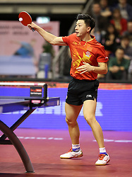 31.01.2016, Max Schmeling Halle, Berlin, GER, German Open 2016, im Bild Long Ma (CHN) bei der Ballannahme // during the table Tennis 2016 German Open at the Max Schmeling Halle in Berlin, Germany on 2016/01/31. EXPA Pictures © 2016, PhotoCredit: EXPA/ Eibner-Pressefoto/ Wuest<br /> <br /> *****ATTENTION - OUT of GER*****