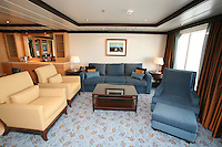 The launch of Royal Caribbean International's Oasis of the Seas, the worlds largest cruise ship..Staterooms..Owners suite with Balcony.
