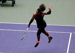 March 10, 2018 - Indian Wells, CA, U.S. - INDIAN WELLS, CA - MARCH 10: Serena Williams ( USA ) hits a volley during the second round of the BNP Paribas Open on March 10, 2018, at the Indian Wells Tennis Gardens in Indian Wells, CA. (Photo by Adam  Davis/Icon Sportswire) (Credit Image: © Adam Davis/Icon SMI via ZUMA Press)