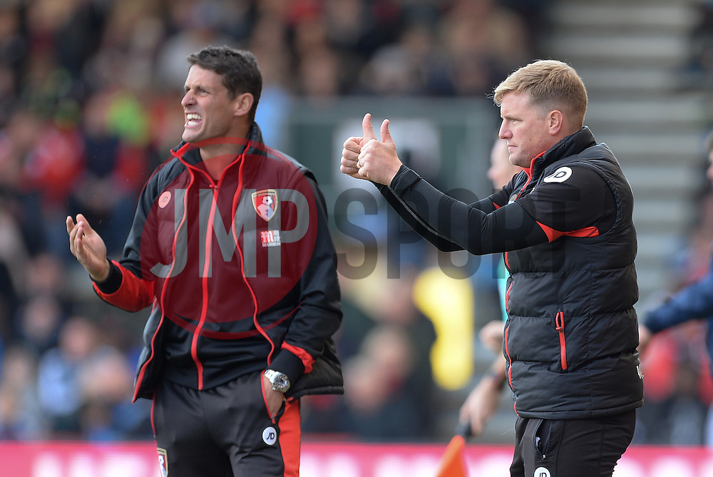 Bournemouth manager Eddie Howe gives his players directions. - Mandatory by-line: Alex James/JMP - 22/10/2016 - FOOTBALL - Vitality Stadium - Bournemouth, England - AFC Bournemouth v Tottenham Hotspur - Premier League