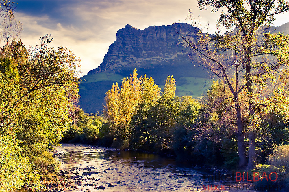Ason river in Ruesga Valley. Cantabria, Spain.