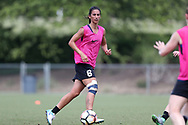 CARY, NC - MAY 10: Abby Erceg. The North Carolina Courage held a training session on May 10, 2017, at WakeMed Soccer Park Field 7 in Cary, NC.
