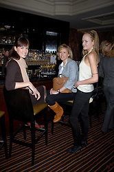 Left to right, LADY ROSE INNES-KER, LADY ALEXANDRA SPENCER-CHURCHILL and LADY ELOISE ANSON at a lunch hosted by Ralph Lauren to present their Spring 2007 collection in support of the Serpentine Gallery's Education Programme, held at Fifty, 50 St.James's Street, London SW1 on 20th March 2007.<br />