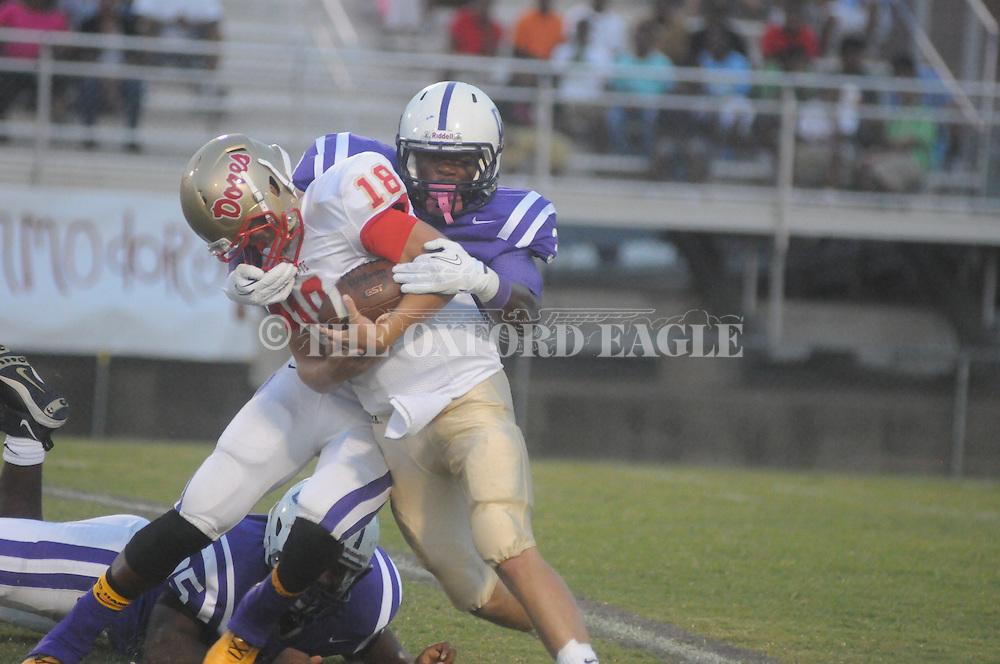 Lafayette High's Devon Thomas (18) vs. Desoto Central on Friday, September 6, 2013. Lafayette High won 21-6.