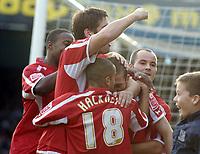 Photo: Olly Greenwood.<br />Southend United v Carlisle United. Coca Cola League 1. 27/10/2007. Carlisle's Joe Garner celebrates scoring