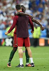 Cristiano Ronaldo of Portugal celebrate's Winning the Uefa European Championship  with goal scorer Eder of Portugal  - Mandatory by-line: Joe Meredith/JMP - 10/07/2016 - FOOTBALL - Stade de France - Saint-Denis, France - Portugal v France - UEFA European Championship Final