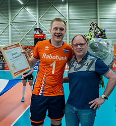 09-06-2019 NED: Golden League Netherlands - Spain, Koog aan de Zaan<br /> Fourth match poule B - The Dutch beat Spain again in five sets in the European Golden League / Daan van Haarlem #1 of Netherlands